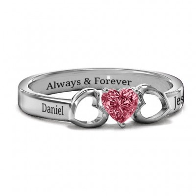 Darling Heart Wraparound Ring - Crafted By Birthstone Design™