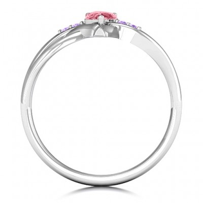 Endless Romance Engravable Heart Ring - Crafted By Birthstone Design™