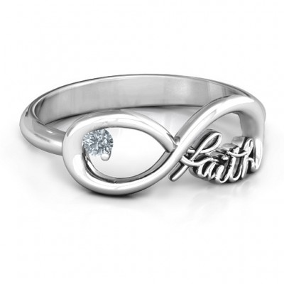 Faith Infinity Ring - Crafted By Birthstone Design™
