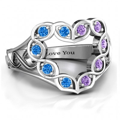 Floating Heart Infinity Ring - Crafted By Birthstone Design™