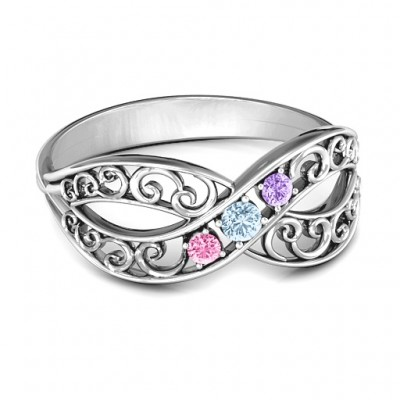 Forever Filigree Infinity Ring - Crafted By Birthstone Design™