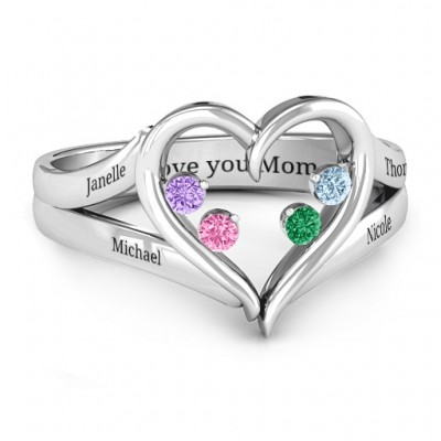 Forever In My Heart Birthstone Ring  - Crafted By Birthstone Design™