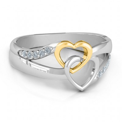 Forever Linked Hearts Ring - Crafted By Birthstone Design™