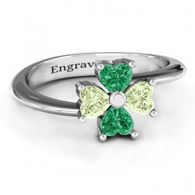 Four Heart Clover Ring - Crafted By Birthstone Design™