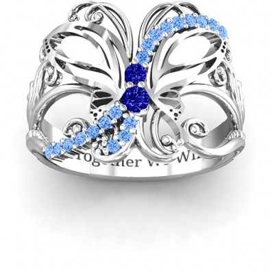 Glimmering Butterfly Ring - Crafted By Birthstone Design™