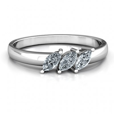 Grand Marquise Trio Ring - Crafted By Birthstone Design™