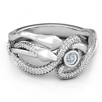 Guardian Snake Ring - Crafted By Birthstone Design™
