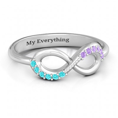 Infinity Accent Ring - Crafted By Birthstone Design™