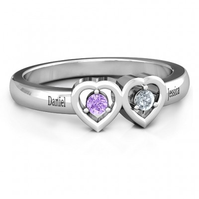 Kissing Hearts Ring - Crafted By Birthstone Design™