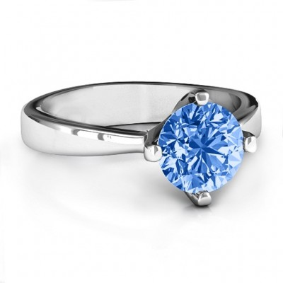 Large Stone Solitaire Ring  - Crafted By Birthstone Design™