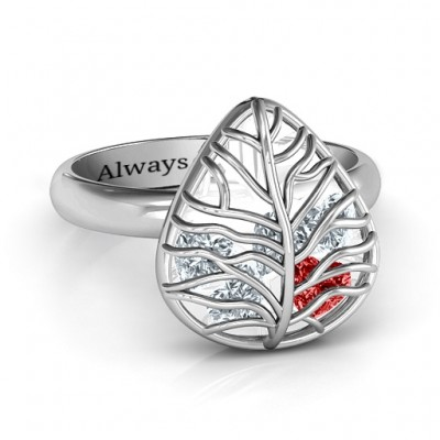 Lovely Lilac Cage Leaf Ring - Crafted By Birthstone Design™