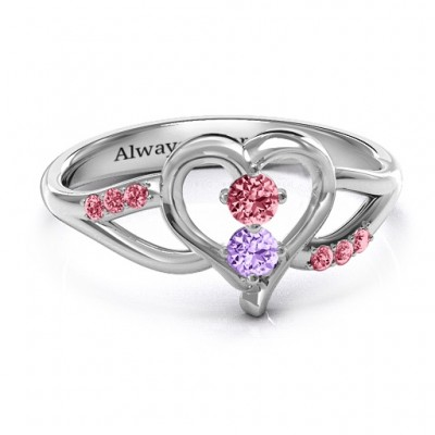 Magical Moments Two-Stone Ring  - Crafted By Birthstone Design™
