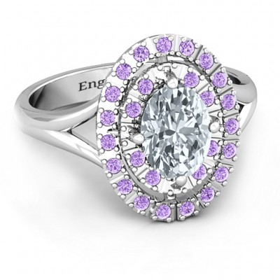 Margaret Double Halo Ring - Crafted By Birthstone Design™