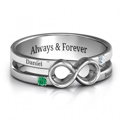 Men's Accented Infinity Ring - Crafted By Birthstone Design™