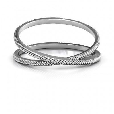 Modern Crossover Ring - Crafted By Birthstone Design™