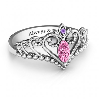 Once Upon A Time Tiara Ring - Crafted By Birthstone Design™