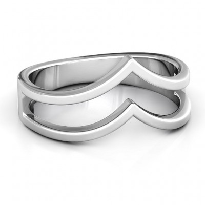 Peaks and Valleys Geometric Ring - Crafted By Birthstone Design™