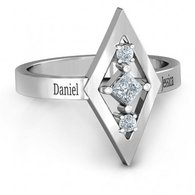 Playing with Diamonds Ring - Crafted By Birthstone Design™