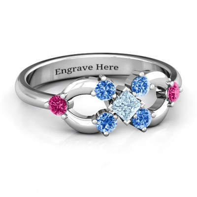 Princess Centre Infinity Ring - Crafted By Birthstone Design™
