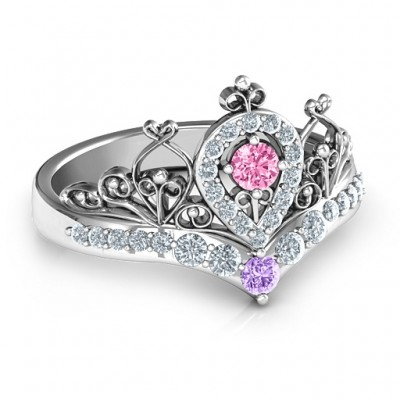 Queen Of My Heart Tiara Ring - Crafted By Birthstone Design™