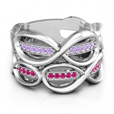 Ravishing Love Infinity Ring - Crafted By Birthstone Design™
