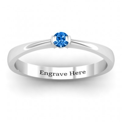 Semi Bezel Set Solitaire Ring - Crafted By Birthstone Design™