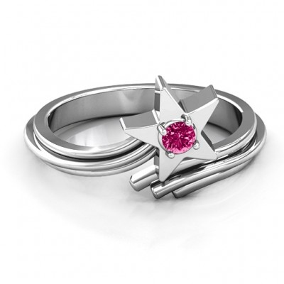 Shooting Star Ring - Crafted By Birthstone Design™