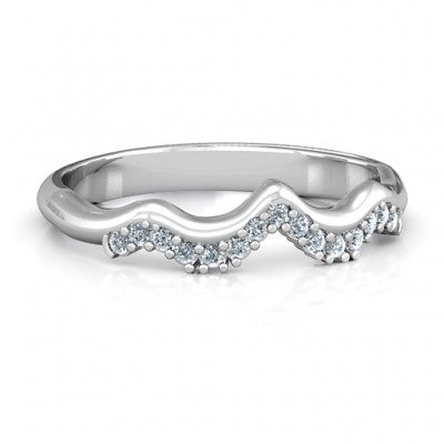 Solitaire Infinity Shadow Band - Crafted By Birthstone Design™