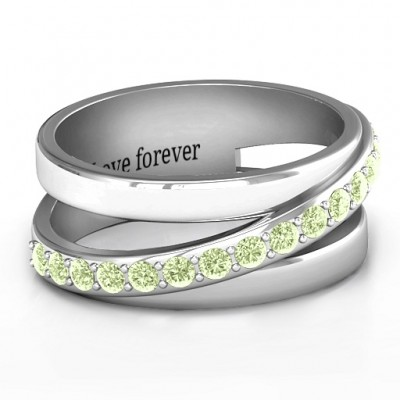 Sparkling Sash Ring - Crafted By Birthstone Design™
