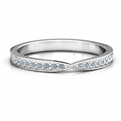 Sparkling Skitip Band - Crafted By Birthstone Design™