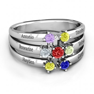 Spidra' Round Centre Ring - Crafted By Birthstone Design™