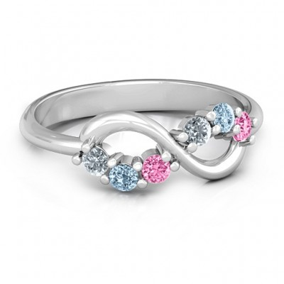 Split Infinity Ring - Crafted By Birthstone Design™
