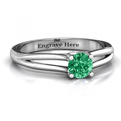 Split Shank Solitaire Ring - Crafted By Birthstone Design™