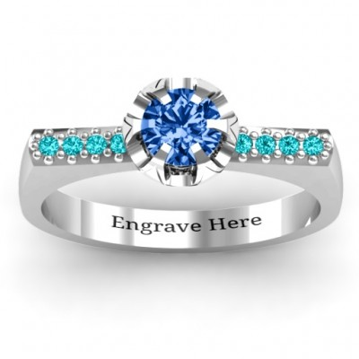 Square Shoulder with Illusion Setting Ring - Crafted By Birthstone Design™