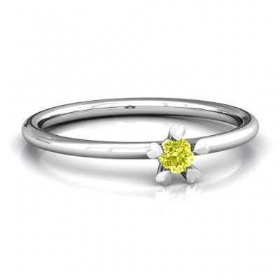 Stackr Hugging Heart Stone Ring  - Crafted By Birthstone Design™