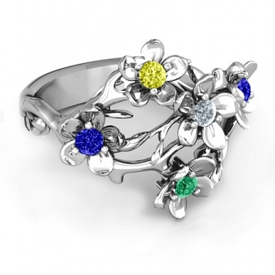 Sterling Silver  Garden Party  Ring - Crafted By Birthstone Design™