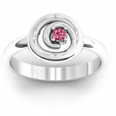 Sterling Silver  Swirling Desire  Ring - Crafted By Birthstone Design™