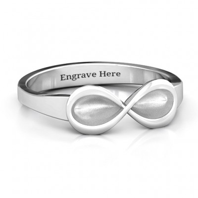 Sterling Silver  Vogue  Infinity Ring - Crafted By Birthstone Design™
