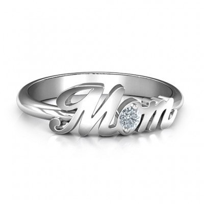 Sterling Silver All About Mom Birthstone Ring  - Crafted By Birthstone Design™