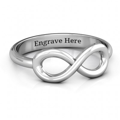 Sterling Silver Classic Infinity Ring - Crafted By Birthstone Design™