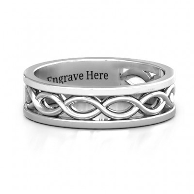 Sterling Silver Diadem Infinity Women's Ring - Crafted By Birthstone Design™