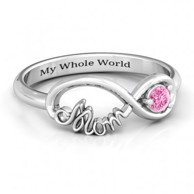 Sterling Silver Mom's Infinity Bond Ring - Crafted By Birthstone Design™
