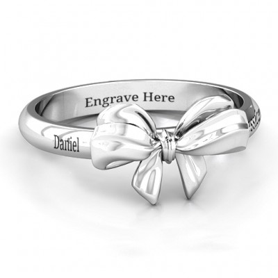 Sterling Silver Papillon Bow Ring - Crafted By Birthstone Design™