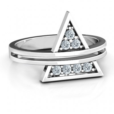 Triangle of Glam Geometric Ring - Crafted By Birthstone Design™