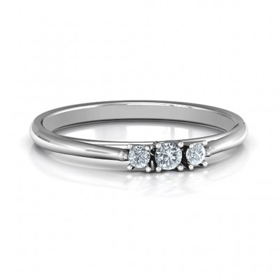 Trinity Ring on Classic Band - Crafted By Birthstone Design™