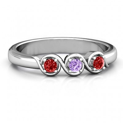 Triple Wave Ring - Crafted By Birthstone Design™