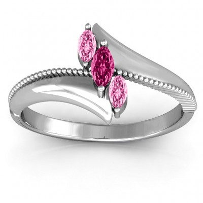 Trois Marquise and Studded Ring - Crafted By Birthstone Design™