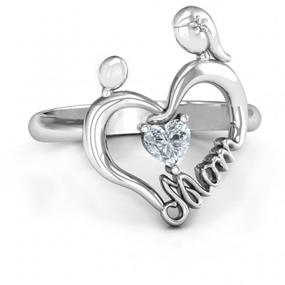 Unbreakable Bond Heart Ring - Crafted By Birthstone Design™