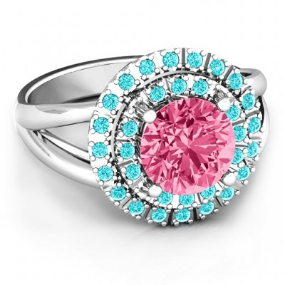 Victoria Double Halo Ring - Crafted By Birthstone Design™