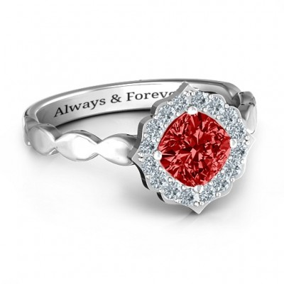 Vintage Glamour Ring - Crafted By Birthstone Design™